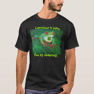 Funny St Patrick's Day Kiss My Shamrock t-shirt
