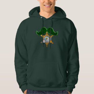 Funny St Patrick's Day Mustache Police Hoody