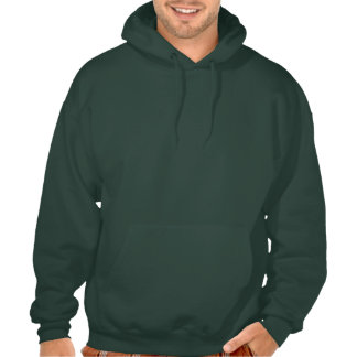 Funny St Patrick's Day Mustache Police Hooded Pullovers