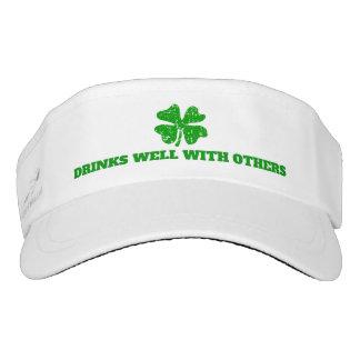 Funny St Patricks Day party sun visor cap hat