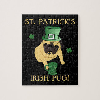 Funny St. Patrick's Irish Pug Puzzles