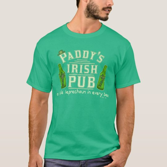 Funny St Patrick's Leprechaun Irish Pub T-Shirt