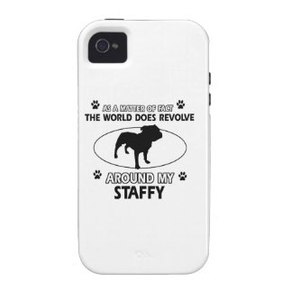 Funny staffy designs case for the iPhone 4
