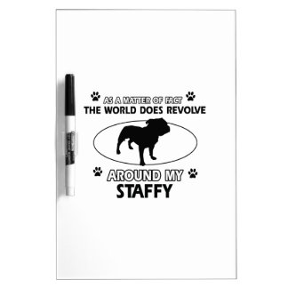 Funny staffy designs dry erase whiteboards
