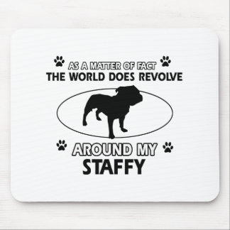 Funny staffy designs mouse pads