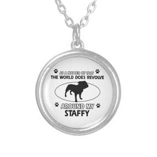 Funny staffy designs pendant