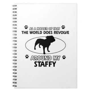 Funny staffy designs note books