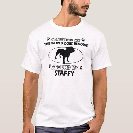 Funny staffy designs T-Shirt