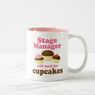 Funny Stage Manager Two-Tone Coffee Mug