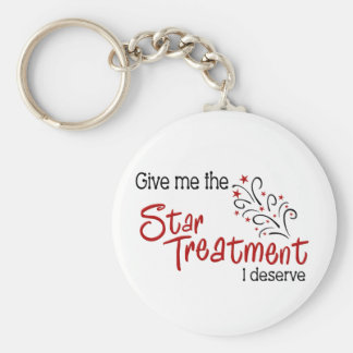 Funny Star Treatment Basic Round Button Key Ring