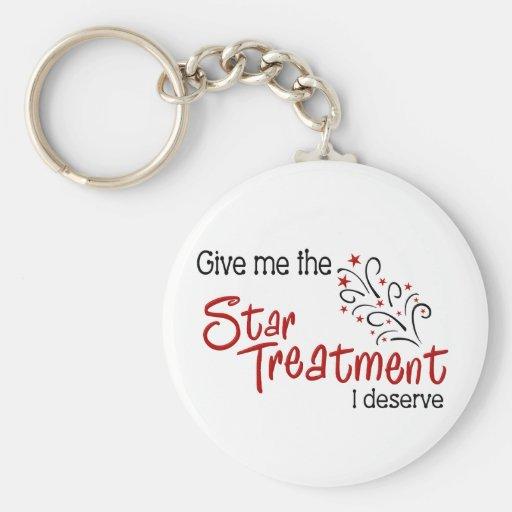 Funny Star Treatment Key Chains