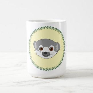 Funny staring baby lemur basic white mug