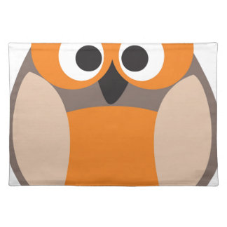 Funny staring owl place mats