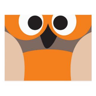 Funny staring owl postcard