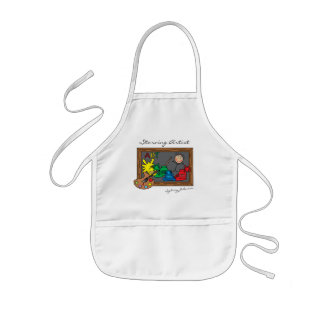 Funny Starving Artist for Kids | Personalize Kids Apron