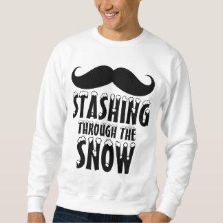 Funny Stashing Through the Snow Sweatshirt