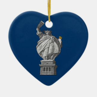 Funny statue of liberty christmas ornament