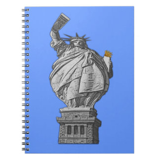 Funny statue of liberty note books
