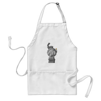 Funny statue of liberty standard apron