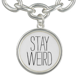 Funny stay weird black white trendy hipster humor