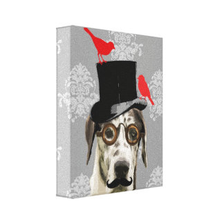 Funny steampunk dog gallery wrapped canvas