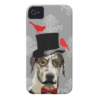 Funny steampunk dog iPhone 4 cover