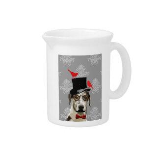 Funny steampunk dog pitcher