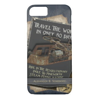 Funny Steampunk Rusty Flying Machine Air Travel iPhone 8/7 Case