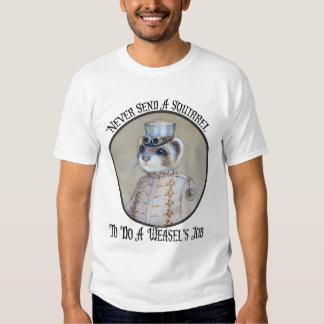 Funny Steampunk Weasel Tee Shirt