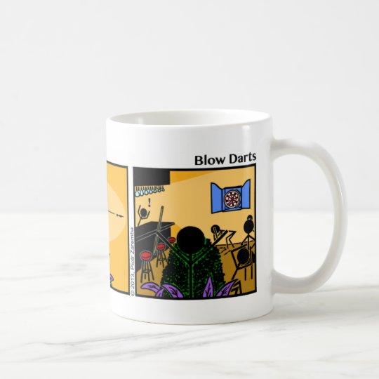 Funny Stickman Blow Darts Mug