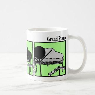Funny Stickman Grand Piano Mug