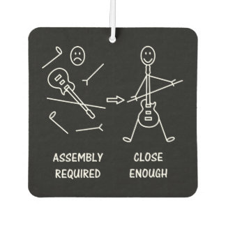 Funny Stickman Guitarist Assembly Car Air Freshener
