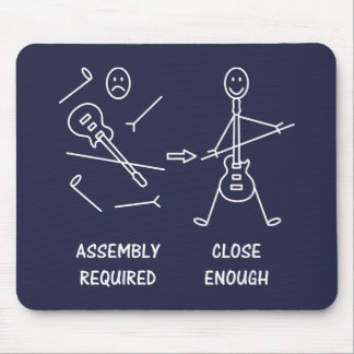Funny Stickman Guitarist Assembly Mouse Mat