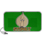 funny STINKY garlic cartoon character Travelling Speaker