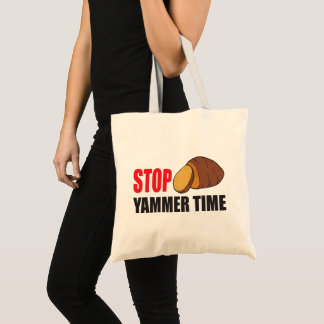FUNNY STOP YAMMER TIME TOTE BAG   VEGETABLE YAM