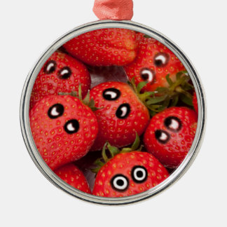 Funny strawberries. christmas ornament