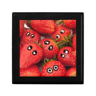 Funny strawberries. gift box