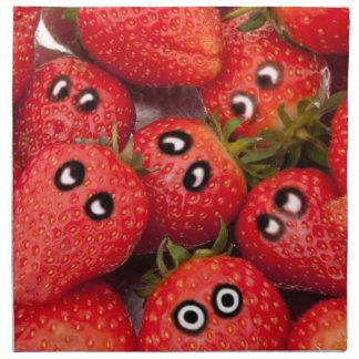 Funny strawberries. napkin