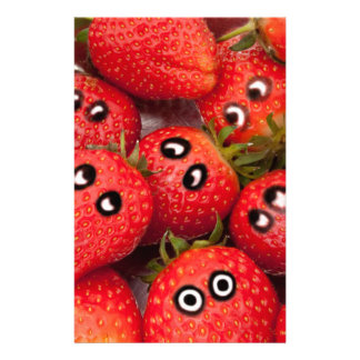 Funny strawberries. stationery