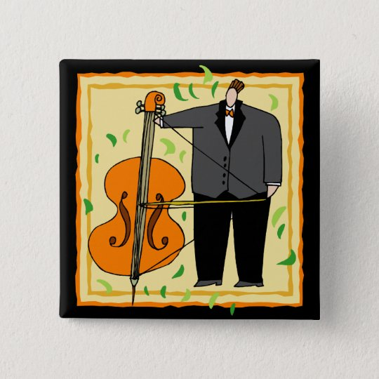 Funny String Bass Button
