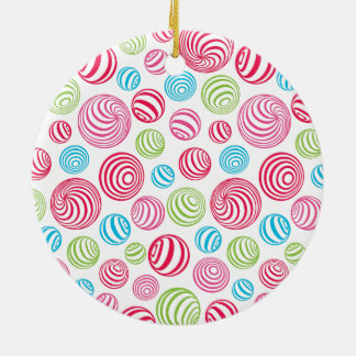 Funny Striped Candies in pastel colors: blue, pink Christmas Ornament