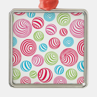 Funny Striped Christmas Candies in pastel colors Christmas Ornament