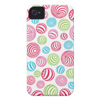 Funny Striped Christmas Candies in pastel colors iPhone 4 Case-Mate Cases