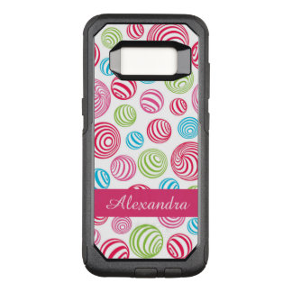Funny Striped Christmas Candies in pastel colors OtterBox Commuter Samsung Galaxy S8 Case