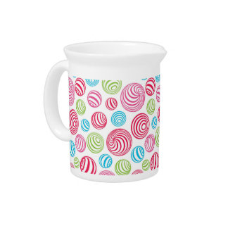Funny Striped Christmas Candies in pastel colors Pitcher