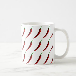 Funny striped hot chili peppers coffee mug