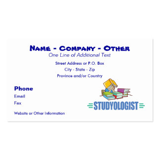 Funny Student Double-Sided Standard Business Cards (Pack Of 100)