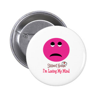 Funny Student Nurse Smiley Face Gifts 6 Cm Round Badge
