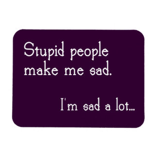 Funny Stupid People Magnet
