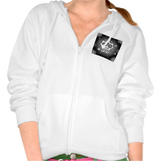 Funny  sugar skull hooded sweatshirt